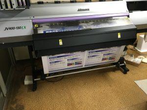 看板用塩ビシートにインクジェット印刷