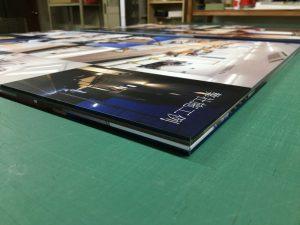 印刷シート巻き込みのアルミ複合板看板