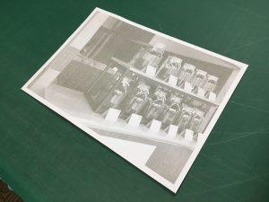写真のレーザー切り絵