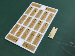 竹の札の梱包