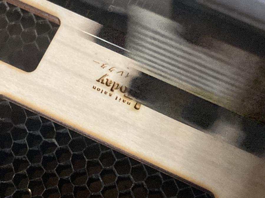 木製名札の製作
